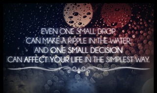 One Small Drop quote